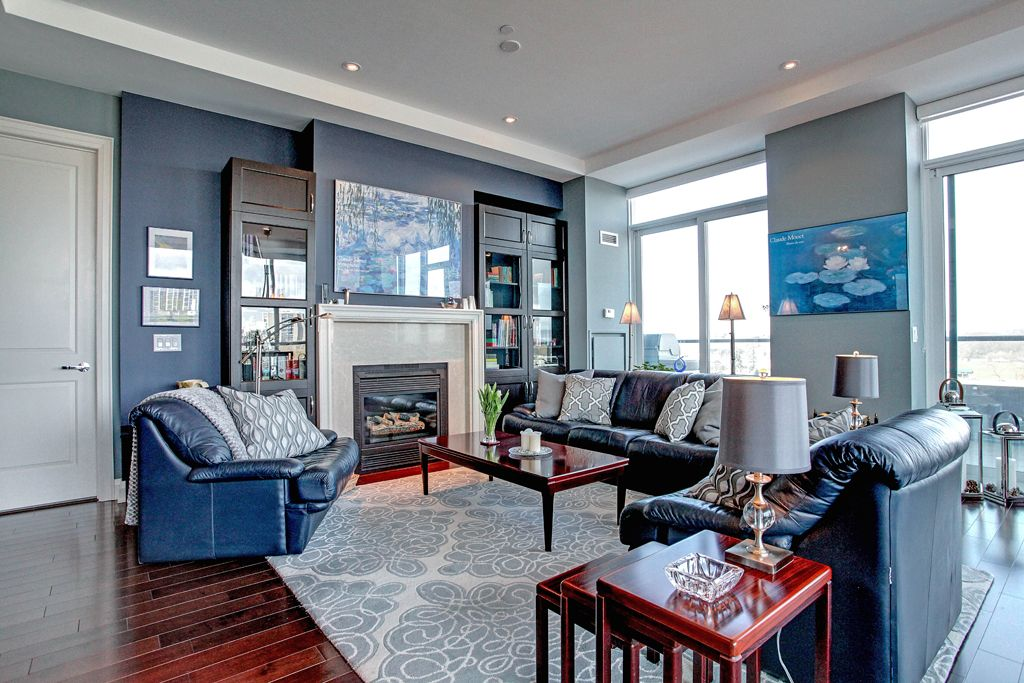 The 10 foot ceiling height and floor to ceiling windows for Living room with 10 foot ceiling