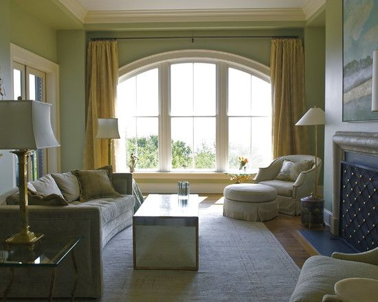 Windows Eclectic Living Room With Arched Window Treatment Ideas Classy Living Room Window Designs Decorating Design