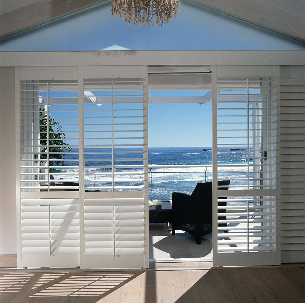 The pvc shutter is available in mm and mm louvre widths