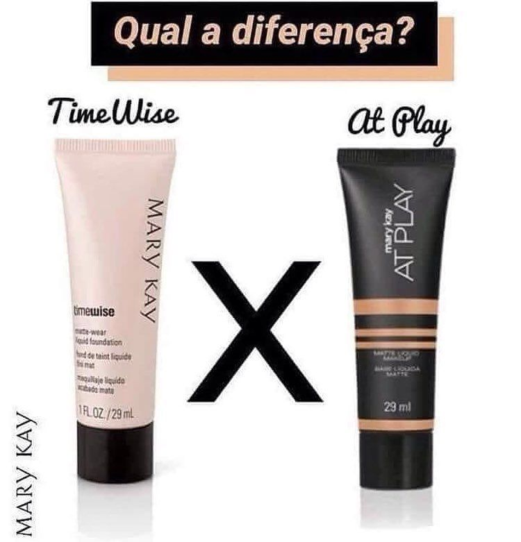 A Diferenca Entre A Base Timewise E A Base At Play Da Mary Kay