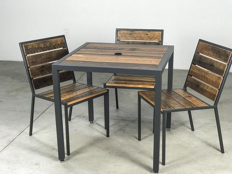 Counter Custom Handmade Interior Exterior Reclaimed Wood Rustic Modern Dining Bar Chair Restaurant  Hospitality  Commercial Industrial