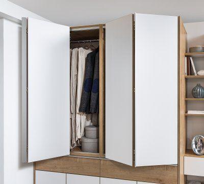 Schrank mit Falttüren PMAX Mass\u2026 Schrankraum - Genügend - schlafzimmer mit eckschrank