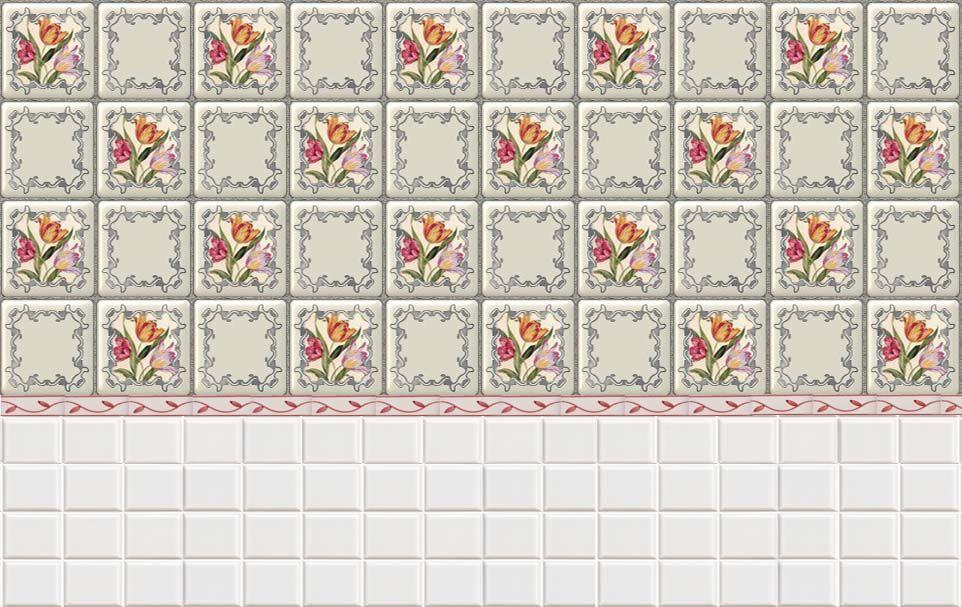 Tulip tiles printies mini tile flooring pinterest - Papel para suelo ...