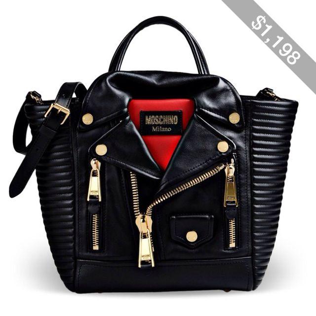 da5020d089 Bag · Moschino Large Leather Bag · Black Leather HandbagsLeather  BagsLeather JacketsLeather SatchelBiker ...
