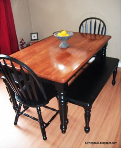 Diy Dining Room Table And Chairs Makeovertutorial For Later Inspiration Diy Dining Room Table Makeover Inspiration Design