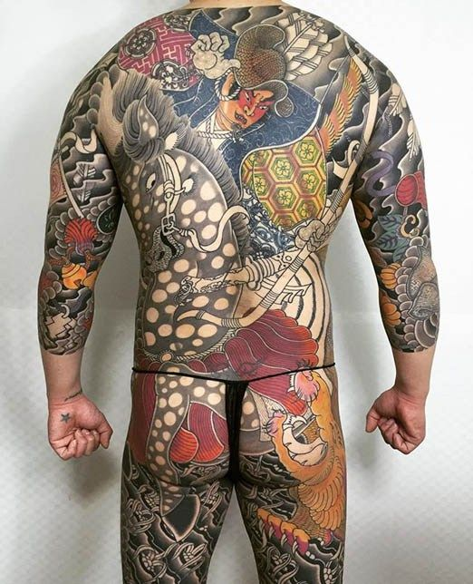 45 Japanese Tattoos With A Culture Of Their Own: Asian Tattoo By Horikoi. #inked #Inkedmag #tattoo #asian