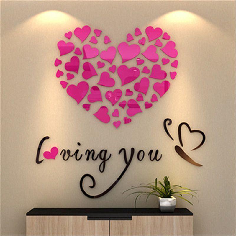 DIY Heart Wall Art, Mirror and \