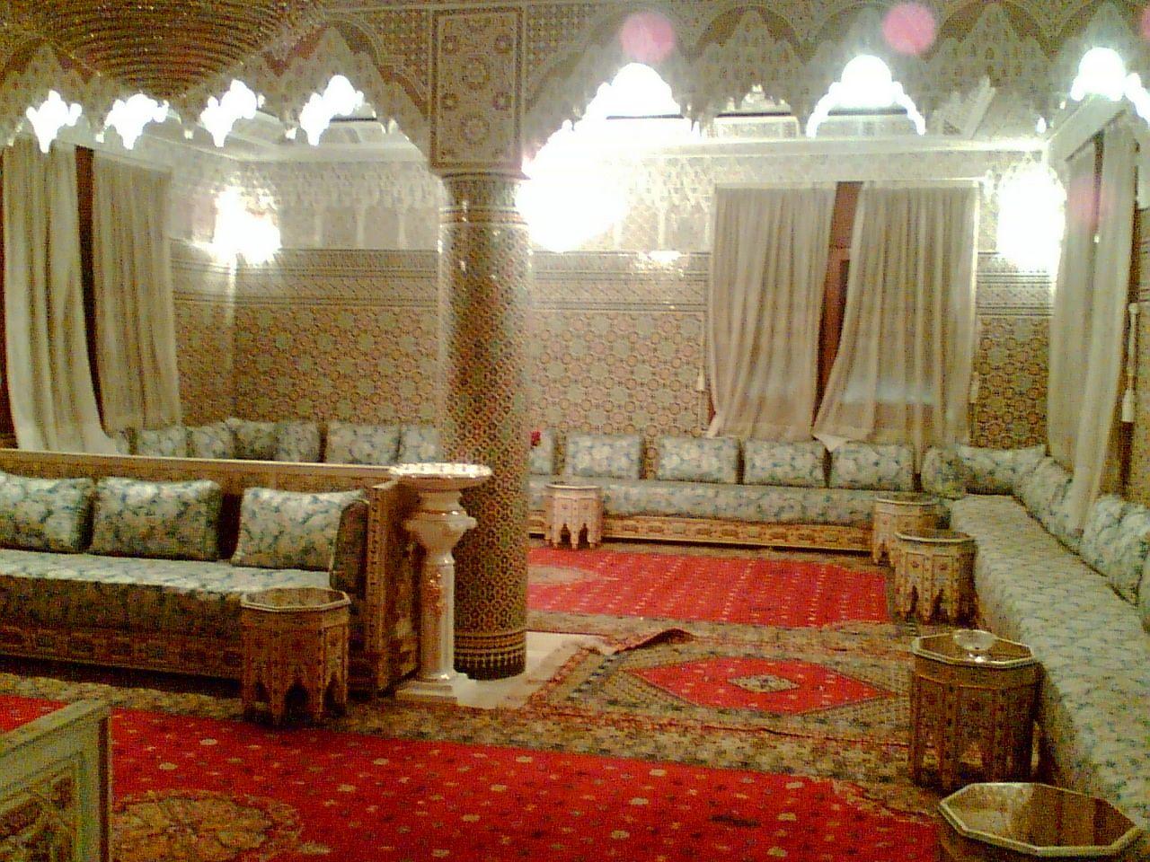 traditional moroccan living room  Morocco  Moroccan