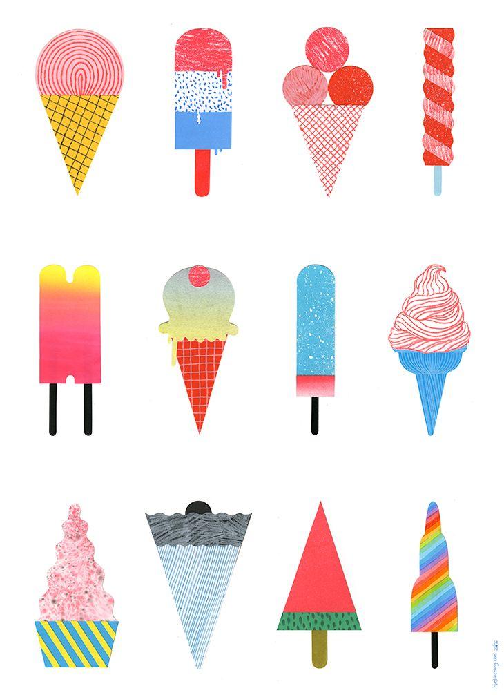 ice-cream illustration - Hye Jin Chung (print, graphic design ...