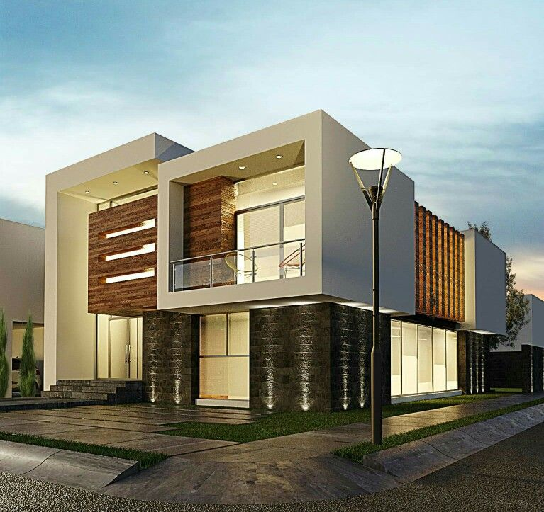 Facade House Contemporary: Pin By Sandeep Borchate BB On Bunglows