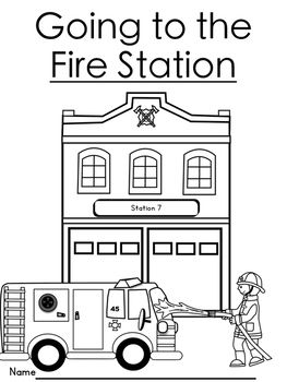 Freebie Packet Of Fun For Your Students When They Are Visiting The Fire Station This Packet Includes Coloring Sh Fire Station Vocabulary Cards Station