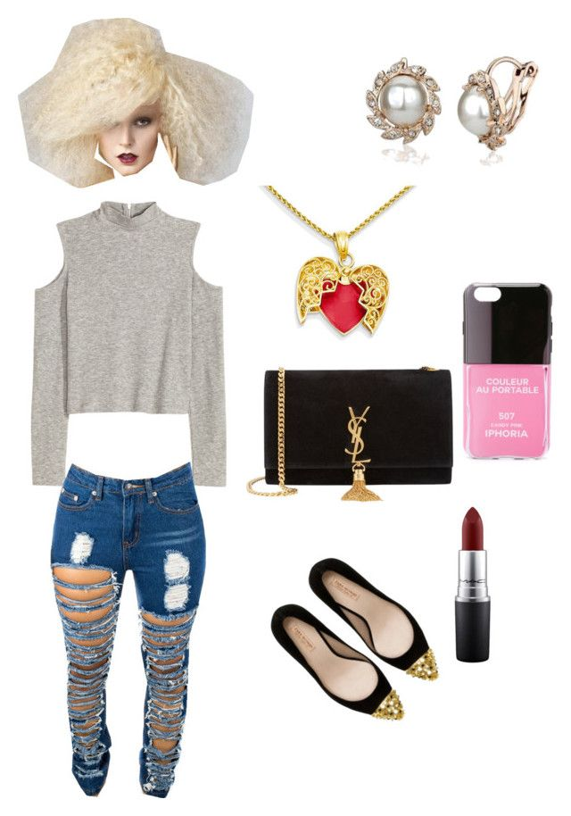 """"" by qveennnnnn on Polyvore featuring Zara, Yves Saint Laurent, MAC Cosmetics and Iphoria"