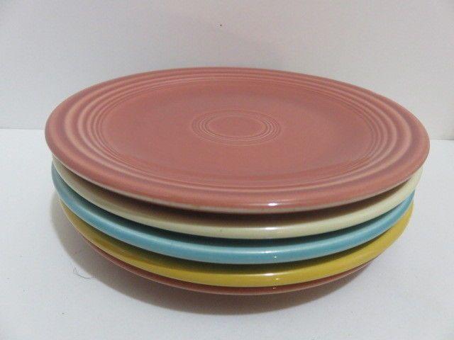Genuine H L O Fiesta  *Lot of 5* Multi Color Bread or Dessert Plates Fiestaware #Fiestaware #MidCenturyModern