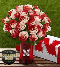 The FTD® University of Nebraska® Huskers® Rose Bouquet. Ooo I want! :)