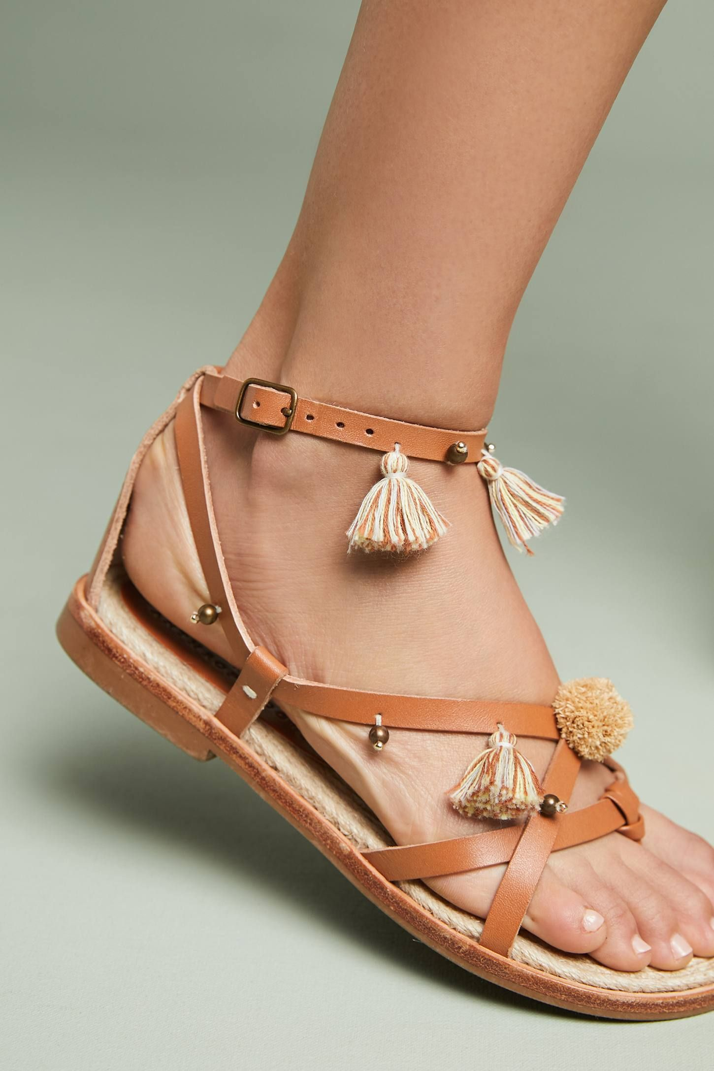 47b6fe9b440 Soludos x Anthropologie Panarea Leather Tasseled Sandals at Anthropologie.