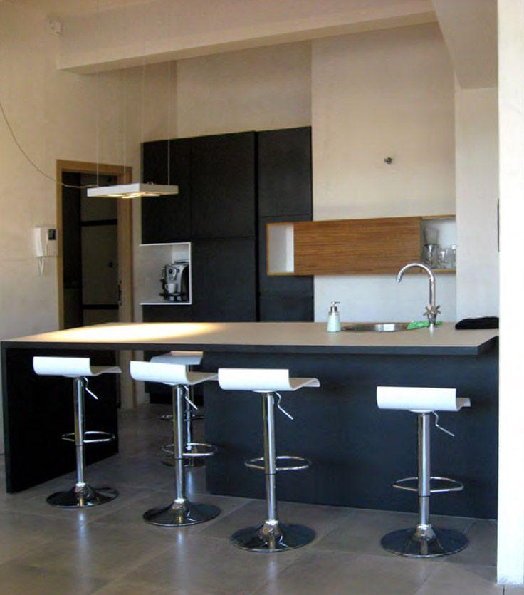 alterdeco  Encore un bel exemple de #cuisine #moderne avec son #bar - Table De Cuisine Avec Plan De Travail
