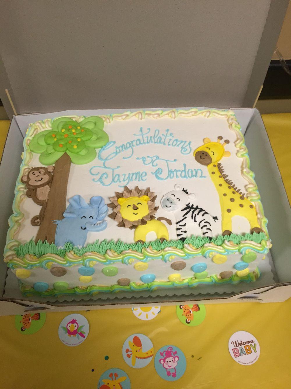 Safari Baby Shower Cake For Boy : safari, shower, Jungle, Shower, Safari, Cake,, Elephant