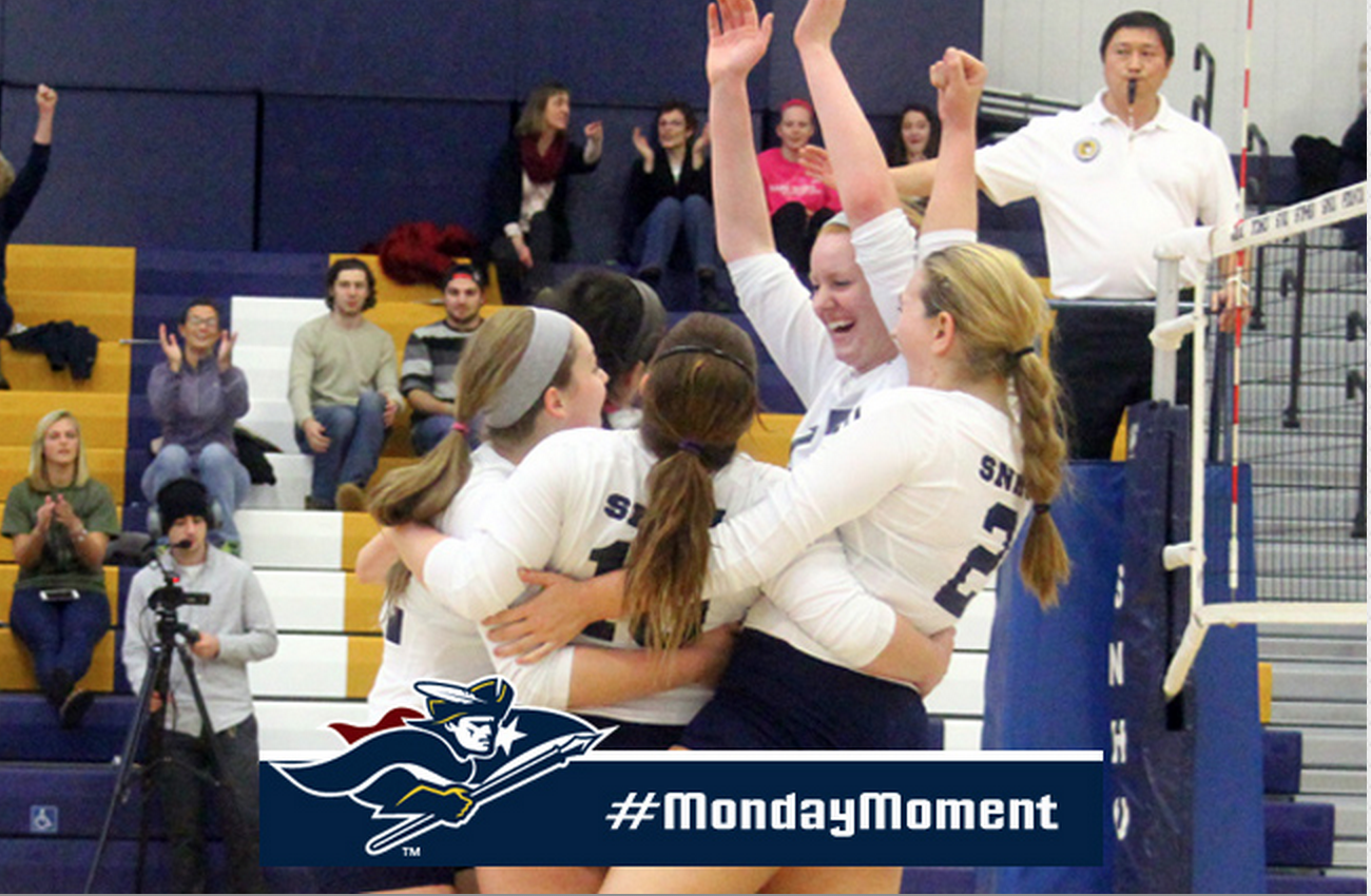 Women S Volleyball Topped New Haven 3 0 For Its First Ever Win Over The Perennial Power In This Week S Monday Moment Snhu P With Images Women Volleyball Athlete Pride