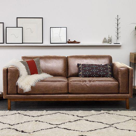 Best Dekalb Leather Sofa 85 West Elm Leather Sofa Leather 640 x 480