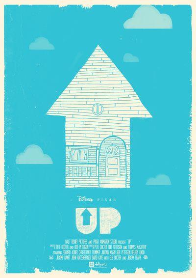 UP - Movie Poster Art Print by Joel Amat Güell | Society6