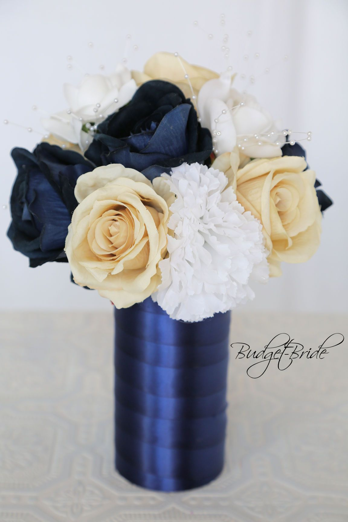 Davids Bridal Marine Blue Reception Flowers For Your Wedding