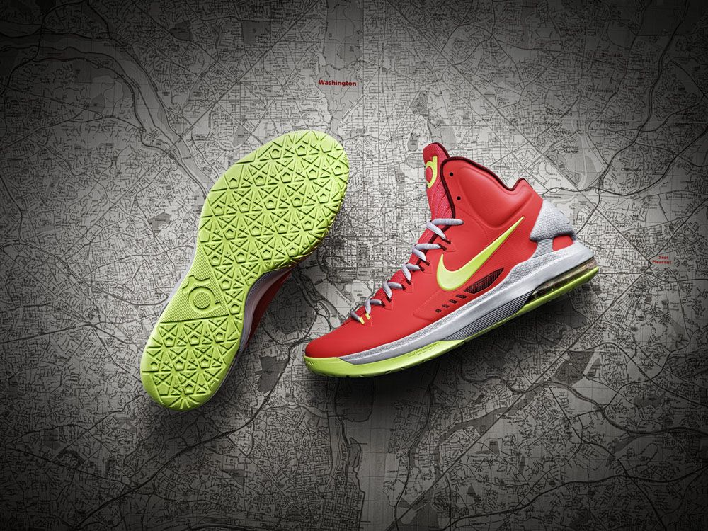 huge selection of 61ec6 ae3df Kevin durant shoes 2013 KD V DMV Bright Crimson White Wolf Grey 554988 610. Kevin  Durant s Nike ...