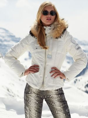 26a47932039e6b Super light weight, down ski jacket with raccoon fur by Bogner ...
