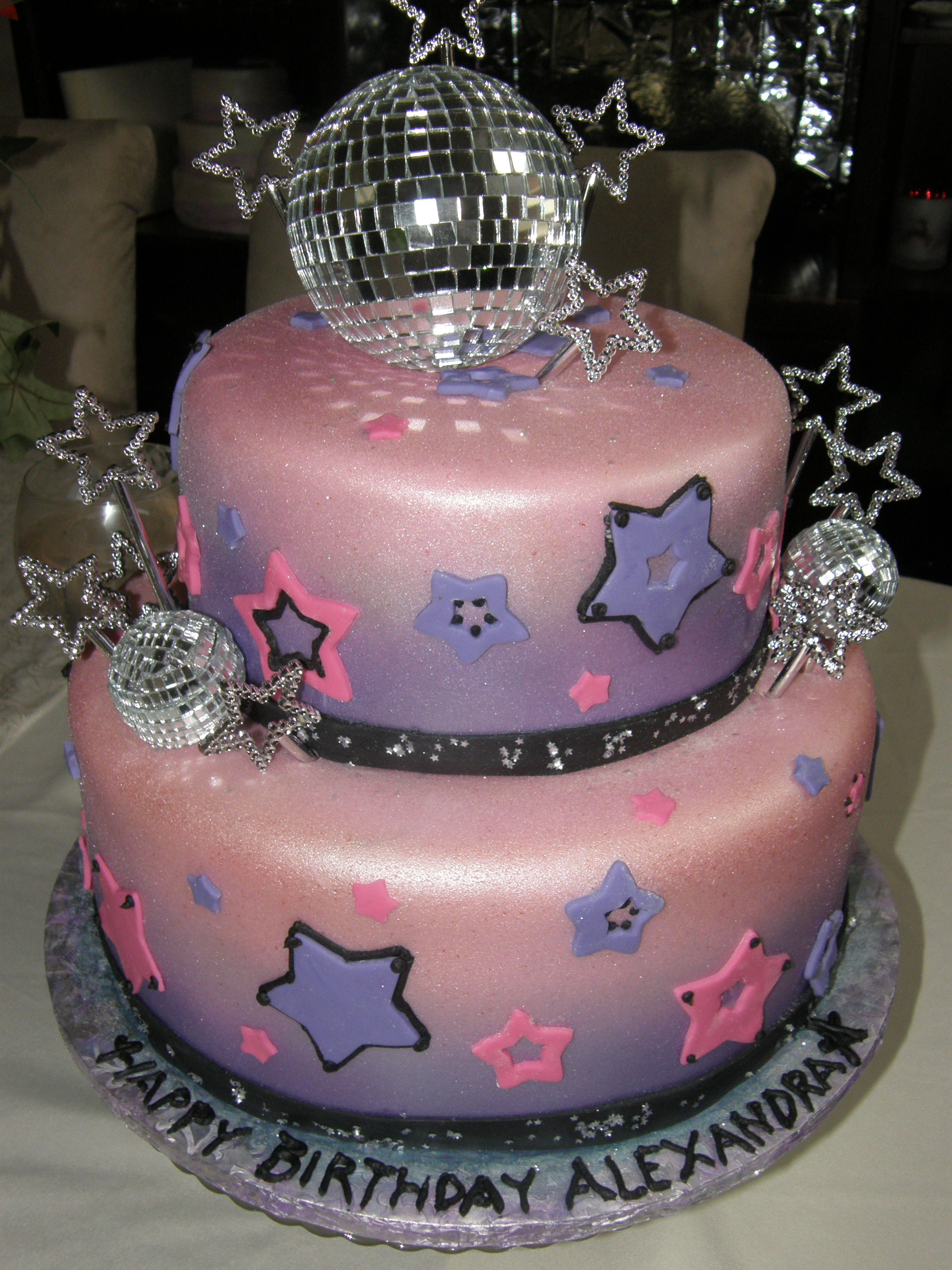 Disco Ball Cake Sweet Cakes Custom Cakery Pinterest Cake