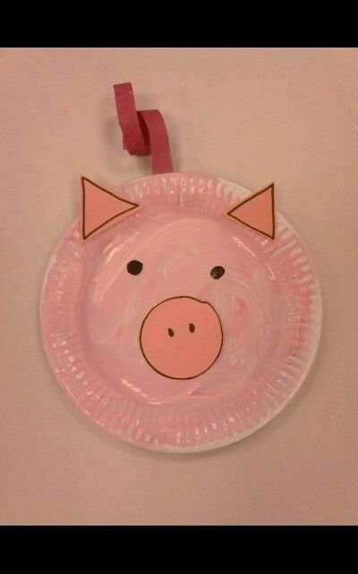 The Three Little Pigs Shape Pig Face Paper Plate Pre