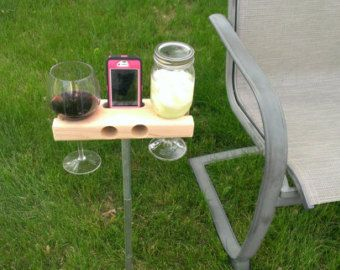 wine table speaker home backyard porch wine glass holder rh pinterest com