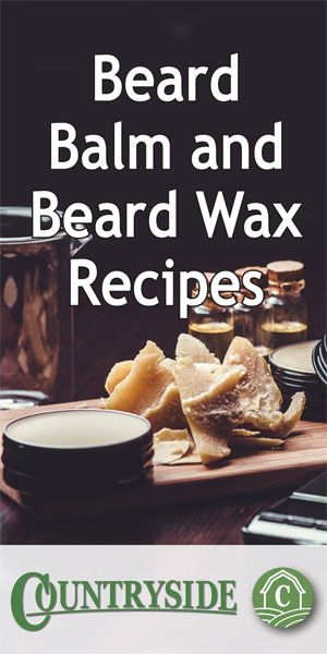Beard Balm and Beard Wax Recipes - Countryside #hairandbeardstyles