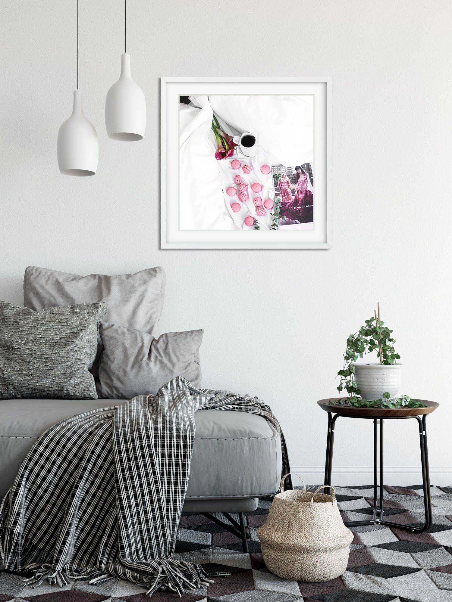 Westlake Poster Print Wall Pink Flower Modern Picture Photography ...