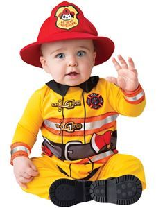 Fearless Firefighter Infant Costume #scentsylaborday