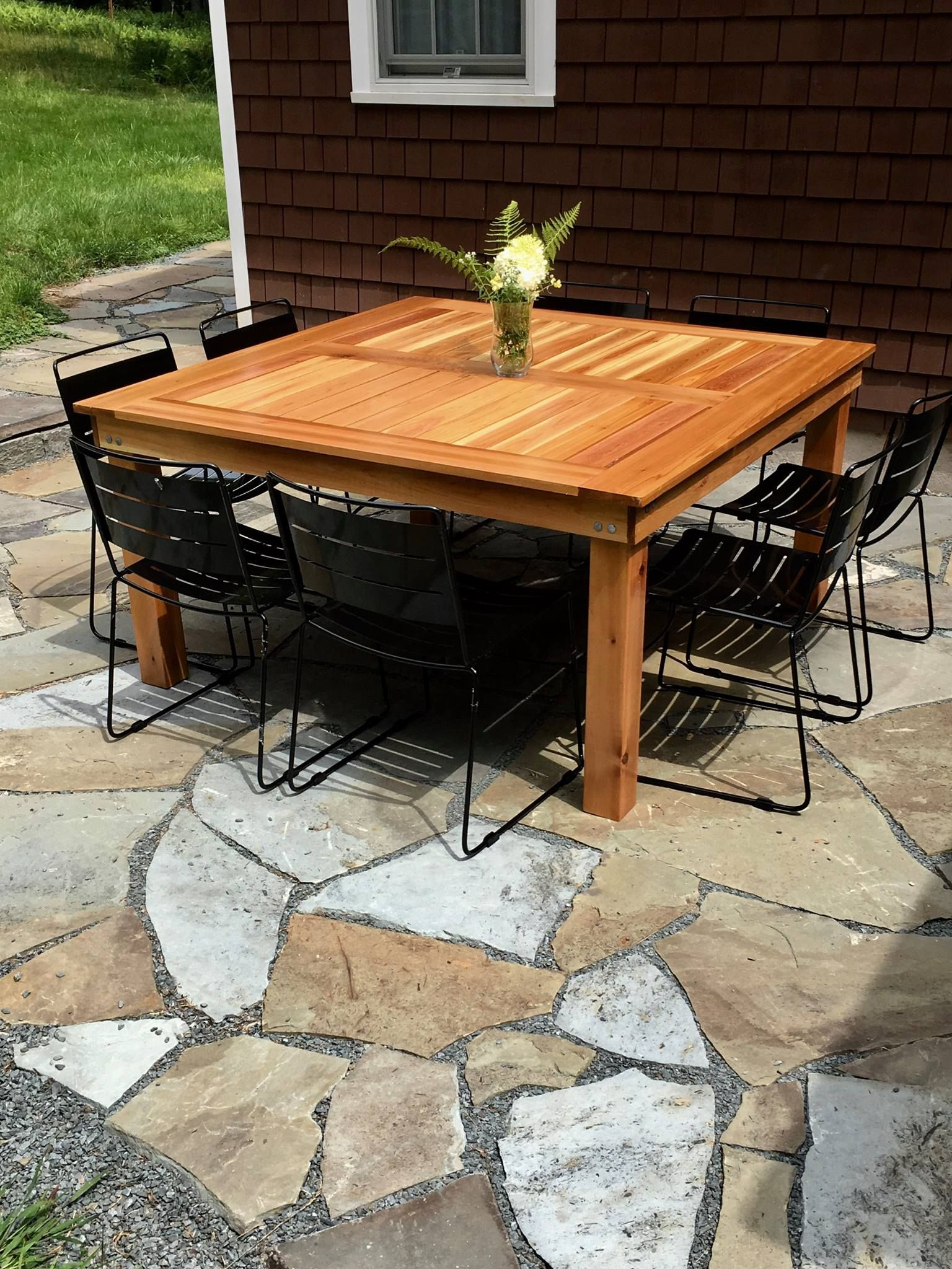 Pin by amy woiler on home improvment pinterest outdoor tables square coffee table w planked top free diy plans geotapseo Images