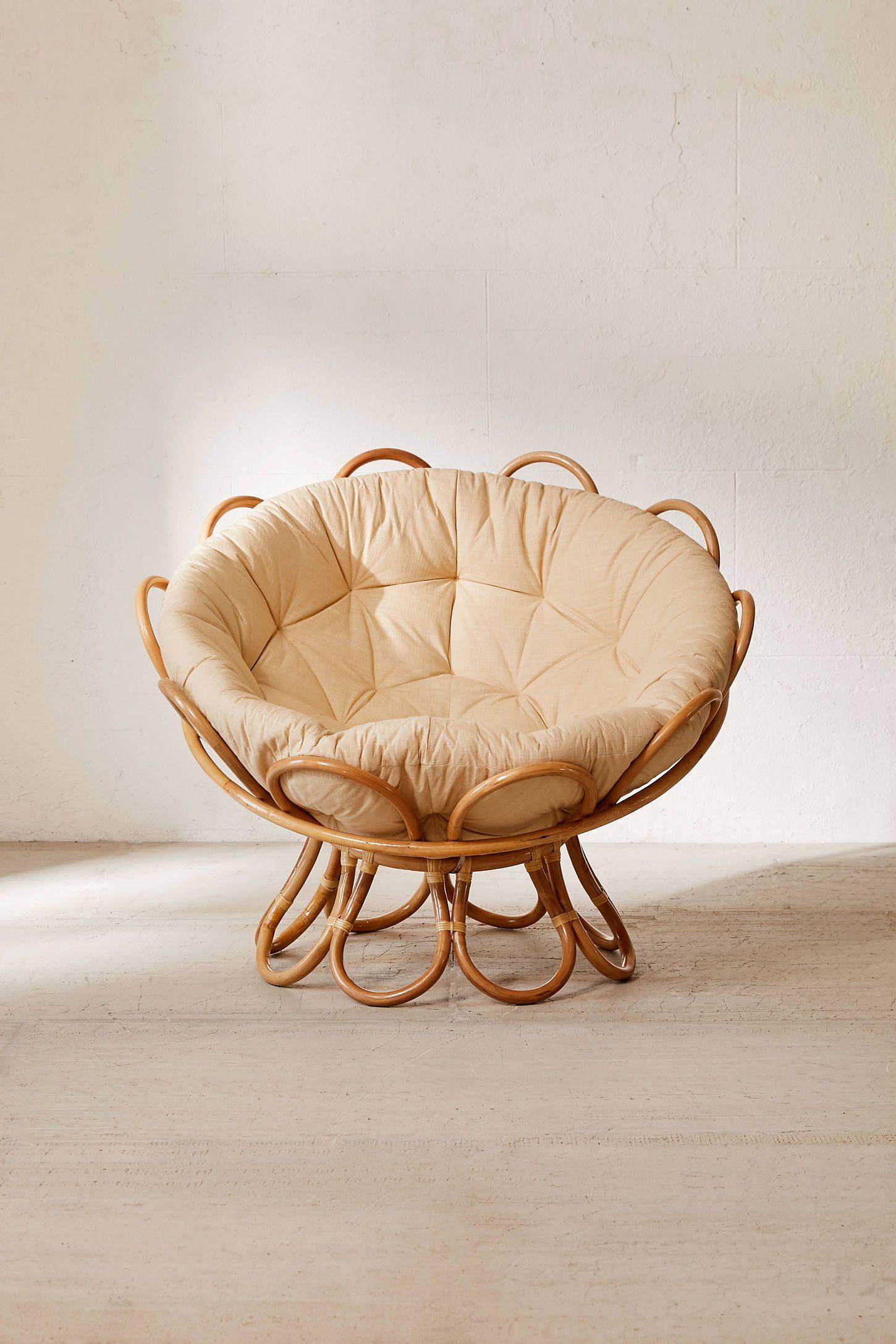 Flora Rattan Papasan Chair Papasan Chair Mid Century Dining