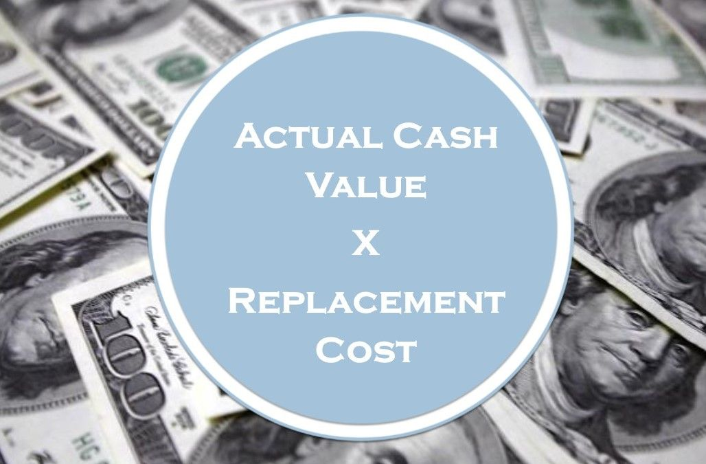 Difference between actual cash value and replacement