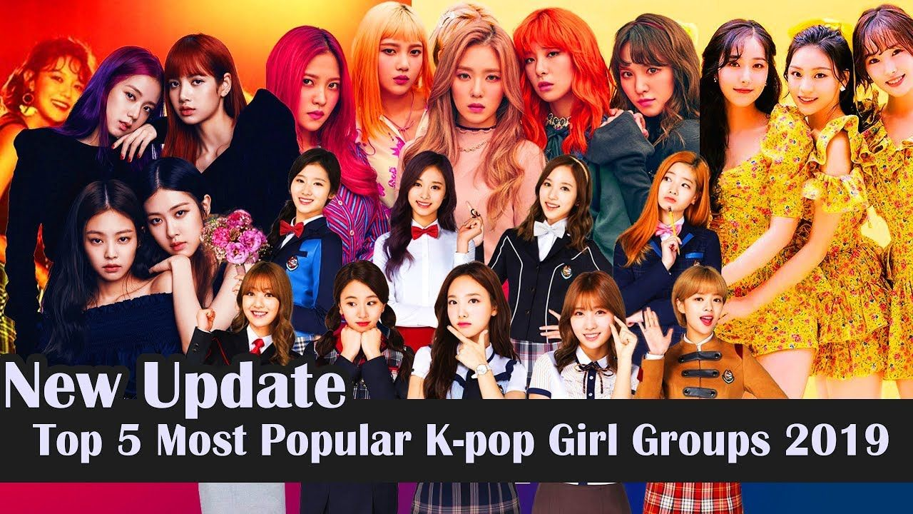 Top 5 Most Popular K Pop Girl Groups 2019 Kpop Rangking Kpop Girls Girl Group Kpop