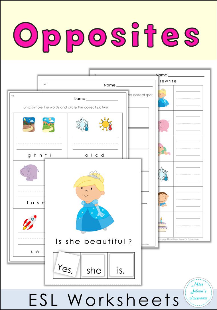 Esl Worksheets Opposites Kindergarten Worksheets Kindergarten Literacy Worksheets Creative Teaching [ 1090 x 761 Pixel ]