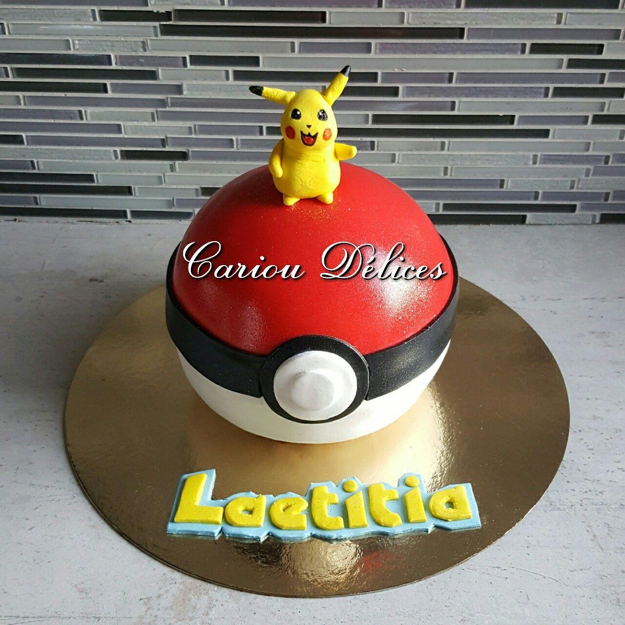 Gâteau 3D Pokeball
