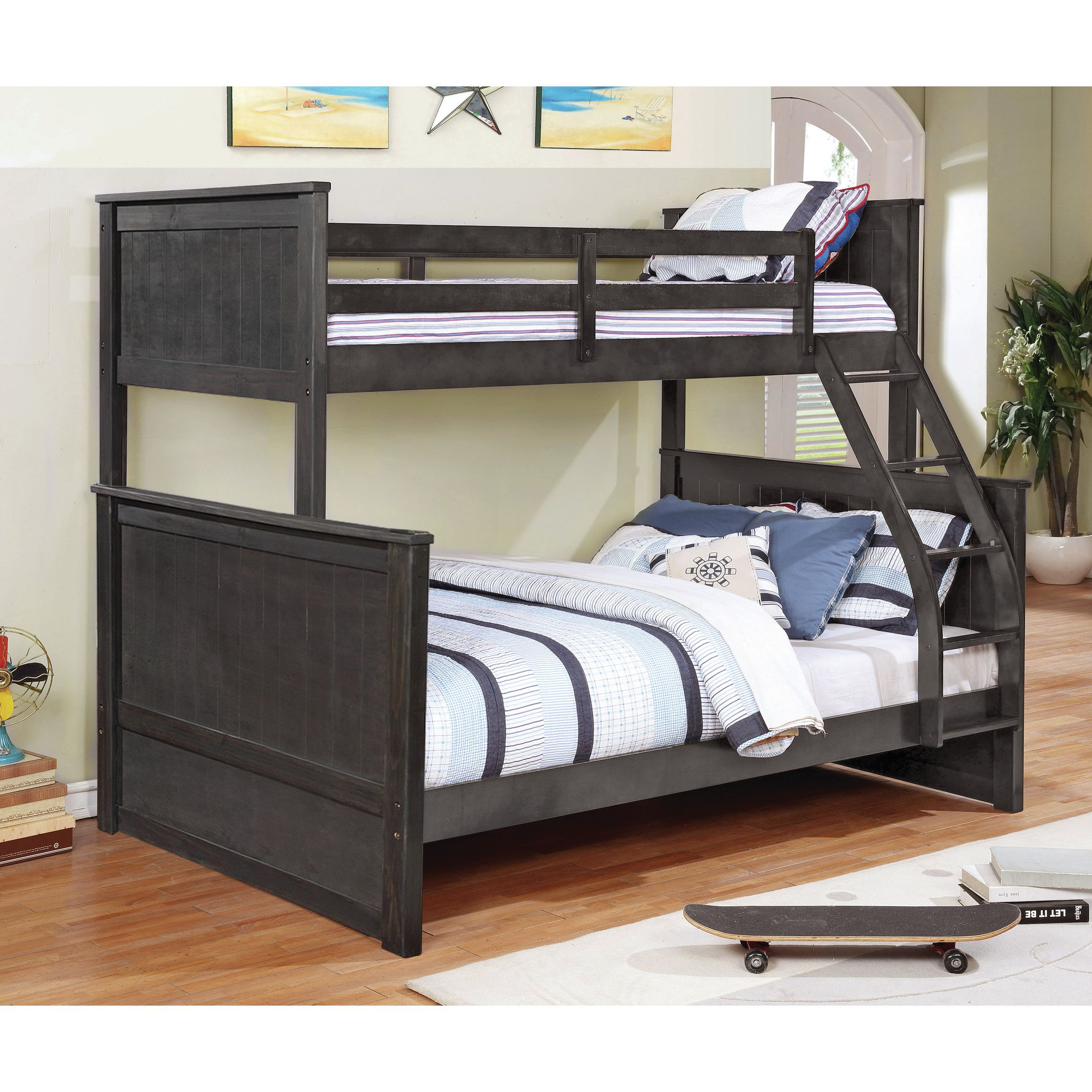 Twin over full loft bed with stairs  Customer Image Zoomed  ATL House  Pinterest  Loft bunk beds Bunk