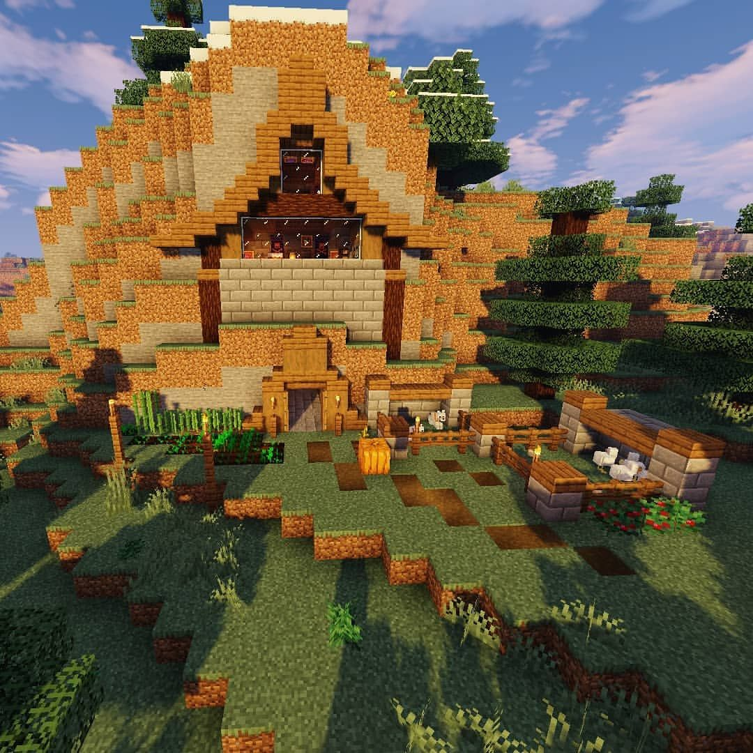 A Small House Built Into A Mountain       Part 1   Minecraft  Builder  Miner  Minecrafter