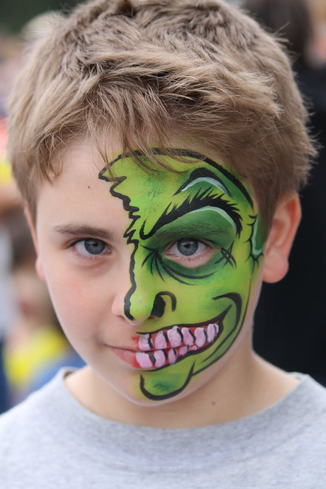 half hulk by sister act face painting make up art. Black Bedroom Furniture Sets. Home Design Ideas