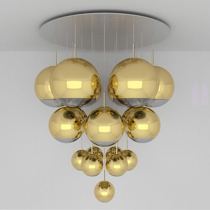 Tom dixon mirror ball gold mega pendant system home decor tom dixon mirror ball gold mega pendant system aloadofball Image collections