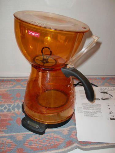 BODUM Santos 3000 RARE ORANGE 12 Cup Vacumm Electric COFFEE MAKER
