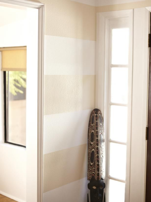 To Enlarge A Space Visually, Paint A Wide Horizontal Stripe On The Walls.
