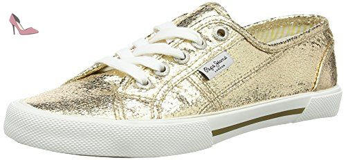 London Aberlady Met, Sneakers Basses Femme, Argent (Chrome), 38 EUPepe Jeans London