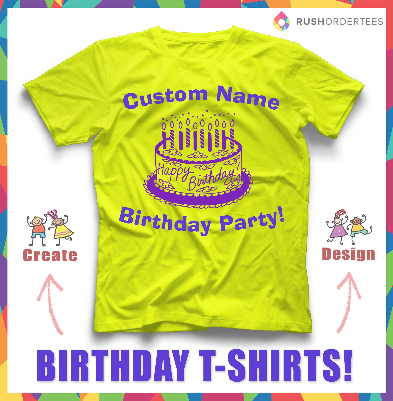 Custom birthday party t-shirt design idea! Create and design your ...
