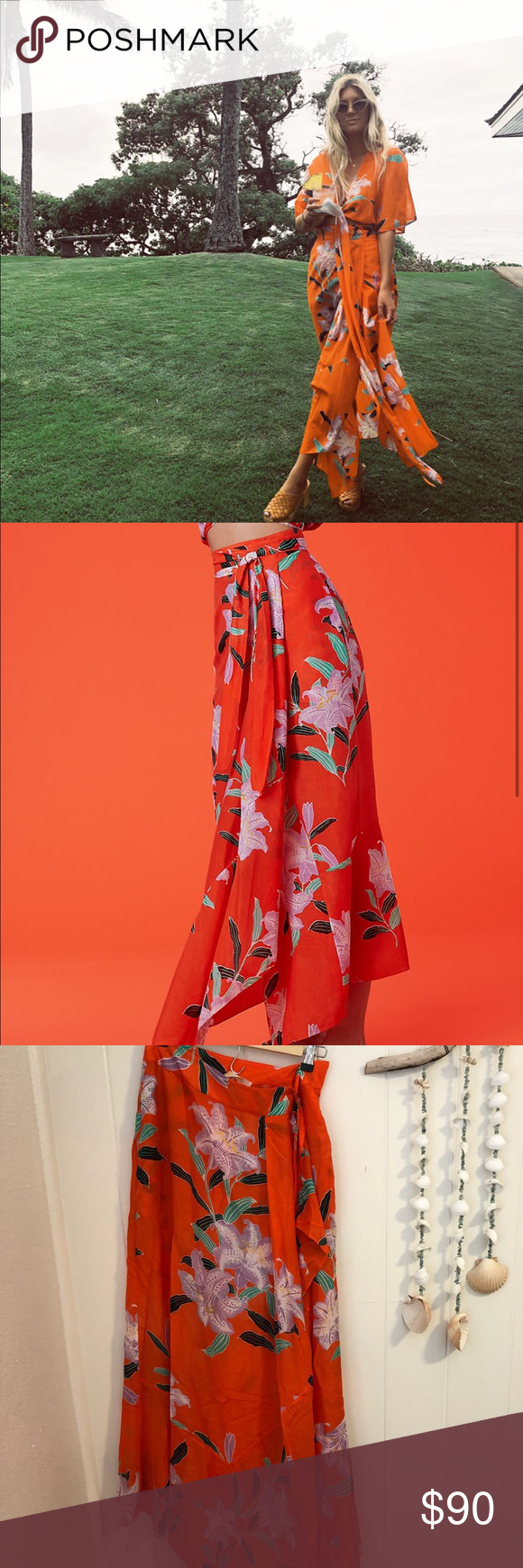 44568423f69f4 Diane Von Furstenberg Draped Wrap Beach Skirt Worn once. For more info  please google style name ✌🏼 Diane Von Furstenberg Skirts