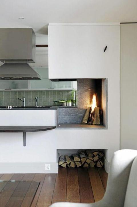 Inspiration Fireplaces Lark Linen Kitchen Fireplace
