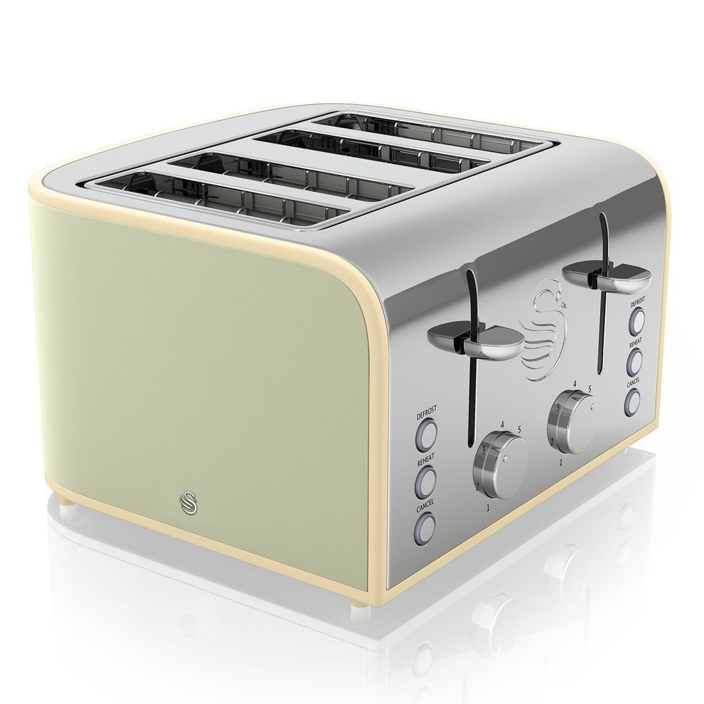Swan 4-Slice Toaster 1600 W Green NEW #Swan